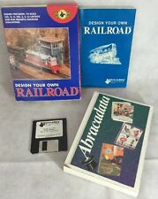 Vintage DESIGN YOUR OWN RAILROAD  Abracadata Software DOS,MAC OS, APPLE II - NOS