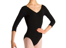 L0439 - Bloch Page Gathered ¾ Sleeve Womens Leotard Size Petite