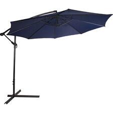 10ft Outdoor Patio Umbrella Off Set Tilt Cantilever Blue Hanging Canopy Deck