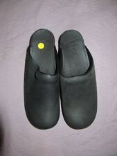 new Dansko black oiled leather open back clogs shoes ladies 40 9.5 to 10 US