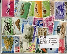 San Marino Collection of 26 Different Stamps Saint Marin Timbres Briefmarken