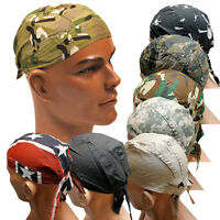 Mens Lightweight Rip-Stop Cotton Flydana Bandana Headwrap - 7 Colour/Camo Choice