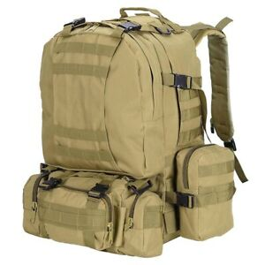 A55L Outdoor Military Molle Tactical Backpack Rucksack Camping Bag Travel Hiking