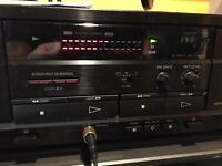 Vintage Sony Dubbing Cassette Deck TC-W411 Dual Dolby Stereo B C High Speed