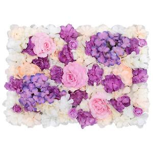 1-6pcs Wall Flower Panel for DIY Wedding Floral Backdrop Decoration 60cm x 40cm