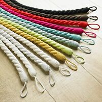 Rope Tie-back ,A Hand Twisted Item,100% Cotton in 12 fabulous colours 70cm long