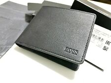 HUGO BOSS WALLET 'Timeless' Bi-fold Black Leather NEW WITH TAGS BOX
