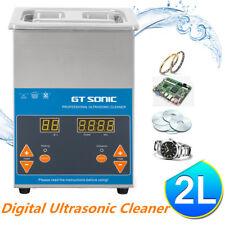 2L Lavatrice Pulitore ad Ultrasuoni Pulizia Pulitrice Timer Cesto Acciaio inox