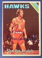 DICK VAN ARSDALE signed  autograph 1975-76 Topps Phoenix Suns