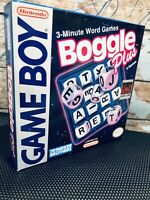 Boggle Plus Nintendo Gameboy AUTHENTIC CIB CARTRIDGE VINTAGE Vocab Game Boy