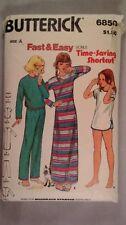 Butterick 6850 Girls child sewing  pattern Pajamas  Size 7-10  New