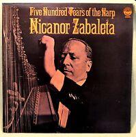 Nicanor Zabaleta Five Hundred Years of Harp LP NM 16th Century 17th 18th 19th