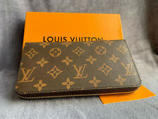 AUTHENTIC LOUIS VUITTON MONOGRAM ZIPPY WALLET ZIP AROUND LONG PURSE BROWN