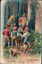 AK Kinder, Künstler, Präge, Wald Eltern Kinder Zwerg,   Kleinformat