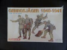 DRAGON 1/35 SCALE gebirgsjäger (Mountaineer) 1941 TROOPS. #6345. NEW/SEALED.