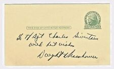 Rare, General Dwight D. Eisenhower Inscribed & Signed A  Penny Post Card, 1950