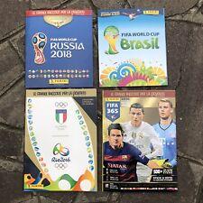 PANINI • 🍁 Lotto 4 Album vuoti Calciatori Calcio Fifa World Cup 2014 2018 • 🍁