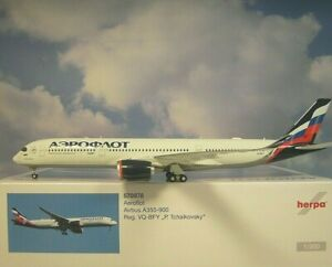 Herpa Wings 1:200 Airbus A350-900 Aeroflot Vq-Bfy 570978 Modellairport500