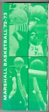 VINTAGE MARSHALL UNIVERSITY 1972-73 BASKETBALL MEDIA GUIDE