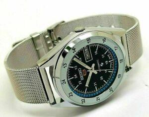 seiko 5 automatic men's railway time 6309 day/date vintage japan watch run z