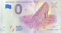 BILLET 0  EURO BATOVANY PARTIZANSKE  SLOVAQUIE RARE 2018 NUMERO 4939