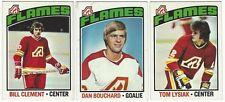 11 1976-77 TOPPS HOCKEY ATLANTA FLAMES CARDS (CLEMENT/BOUCHARD/LYSIAK+++)