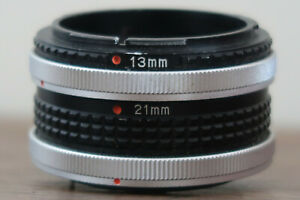UNBRANDED LENS EXTENSION TUBE BLACK FOR CANON FD LENS MOUNT 13MM AND 21MM USED