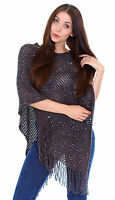 Women's Loose  Poncho Cape Sweater Knitted Top Shawl Wrap Coat