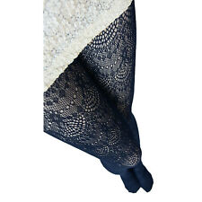 Womens Fashion Lycra Crochet Lace Tights Hosiery Ladies Pantyhose Navy One Size Regular