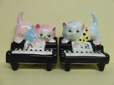 Vintage Lefton (ESD) Kitty Cats on Pianos Salt & Pepper Shakers (#7029, Japan)