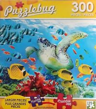 """Sea Turtle Paradise Coral Reef Fish Jigsaw Puzzle 300 Pieces 18.25""""X11"""" Piece"""