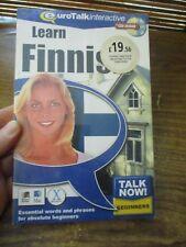 Euro Talk Interactive Learn Finnish CD Rom Talk Now Beginners RRP £19.56 (NEW)