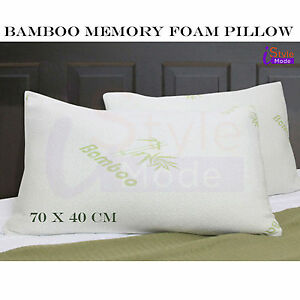 Bamboo Anti Bacterial Memory Foam Pillow Orthopedic Neck Support