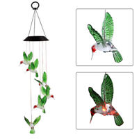 Solar Lamp Color Changing LED Hummingbird  Wind Chimes Outdoor Home Garden Decor