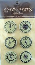 The Paper Studio Spare Parts Clock Faces Brads, NEW
