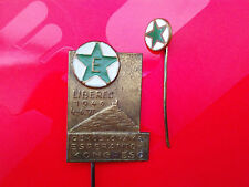1949 ESPERANTO CONGRESS CEHOSLOVAKA Liberec Rare badge + small member badge