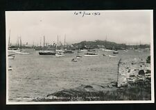 Cornwall FALMOUTH Harbour Pendennis Castle 1953 unused RP PPC