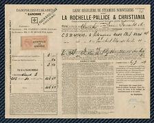 CONNAISSEMENT MARITIME - Transport entre LA PALLICE et la Norvège - 1904