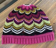 Missoni Target Chevron Beanie Cap Stocking Cap Pink Green Black Special Edition