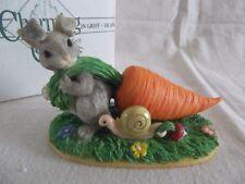 """Tugging� Charming Tails limited edition rabbit & snail figurine Nib"