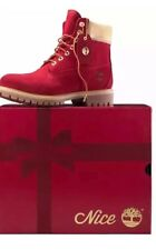 """Timberland 6"""" Premium Construction Naughty or Nice Red Woman's Size 6"""