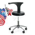 【USA】Doctor Dentist Assistant Stool Adjustable Mobile Chair PU Hard Leather