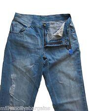 NUOVA linea uomo Marks & Spencer Autografo Blu Jeans Slim Fit Vita 28 Gamba 31