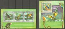 Vögel Papagei Guinea 10355/57 + Block 2364 postfrisch