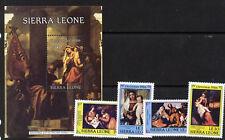 Sierra Leone 818-22 MNH Christmas, Art, Paintings