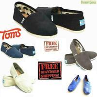 Toms Men's Classics Canvas Shoes Slip On Comfortable Original NEW WITHOUT BOX