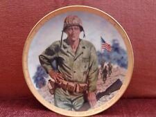 John Wayne, Symbol Of America'S Fighting Forces Plate by Robt Tanenbaum