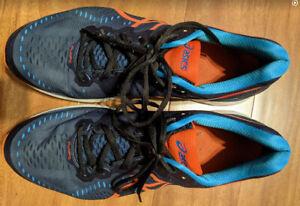 Asics Gel-Kayano 23 Used Running Shoes Men's size13 Blue+Orange Denver Broncos