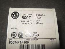 (V29-3) 1 NIB ALLEN BRADLEY 800T-PTF16R RED PILOT LIGHT