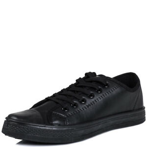 Mens Lace Up Flat Casual Desert Trainers Plimsole Shoes